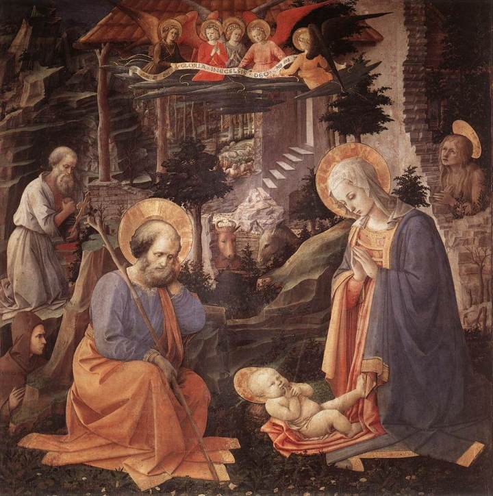 1455 Filippo Lippi Adoration of the Child 3adorati