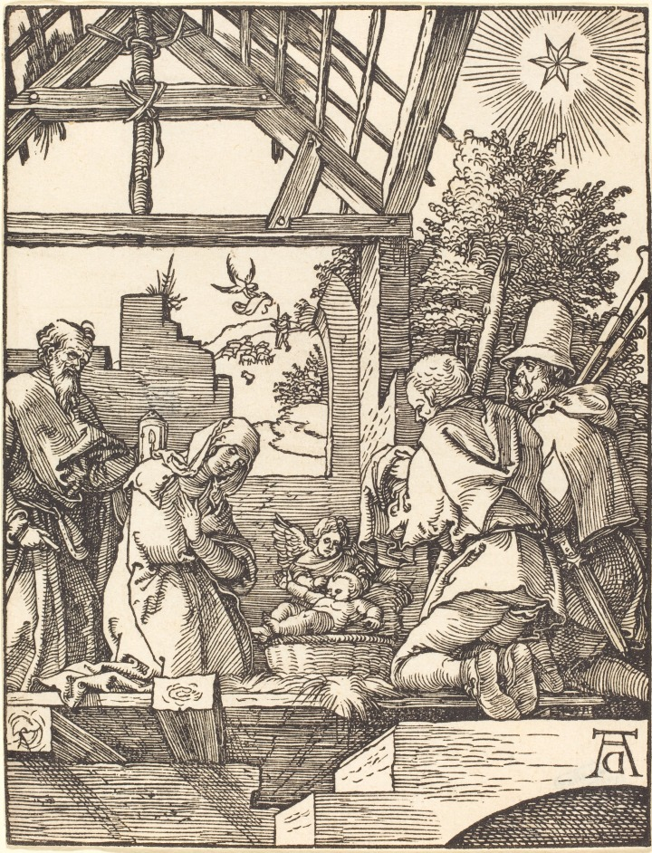 1509 1510 Albrecht_Dürer_-_The_Nativity_(NGA_1943.3.3636)