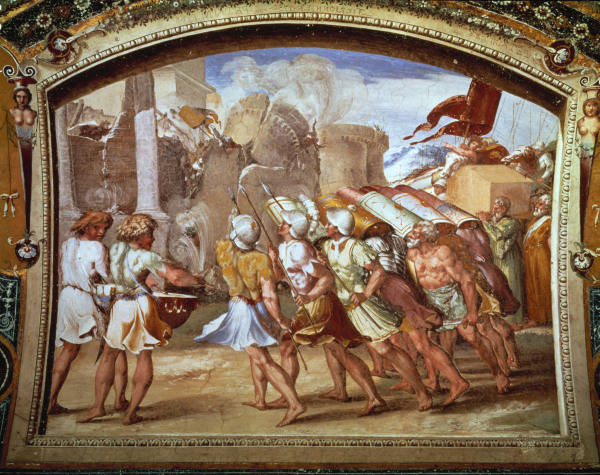 Raffael, Fall Jerichos - Raphael / The Fall of Jericho / c.1515 - Raphael, Chute de Jericho