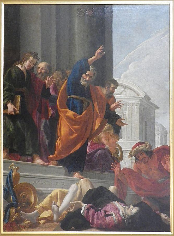 1632 Aubin_Vouet_-_La_mort_de_Saphire_et_d'ananie