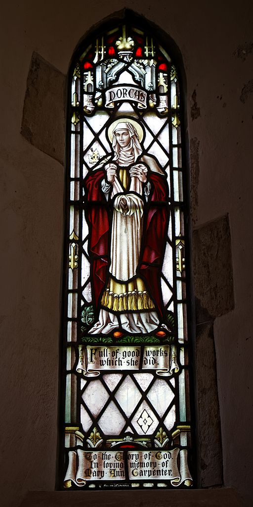 All_Saints_Church_West_Stourmouth_Kent_England_-_Mary_Ann_Carpenter_Gothic_Revival_Dorcas_stained_glass_lancet_window