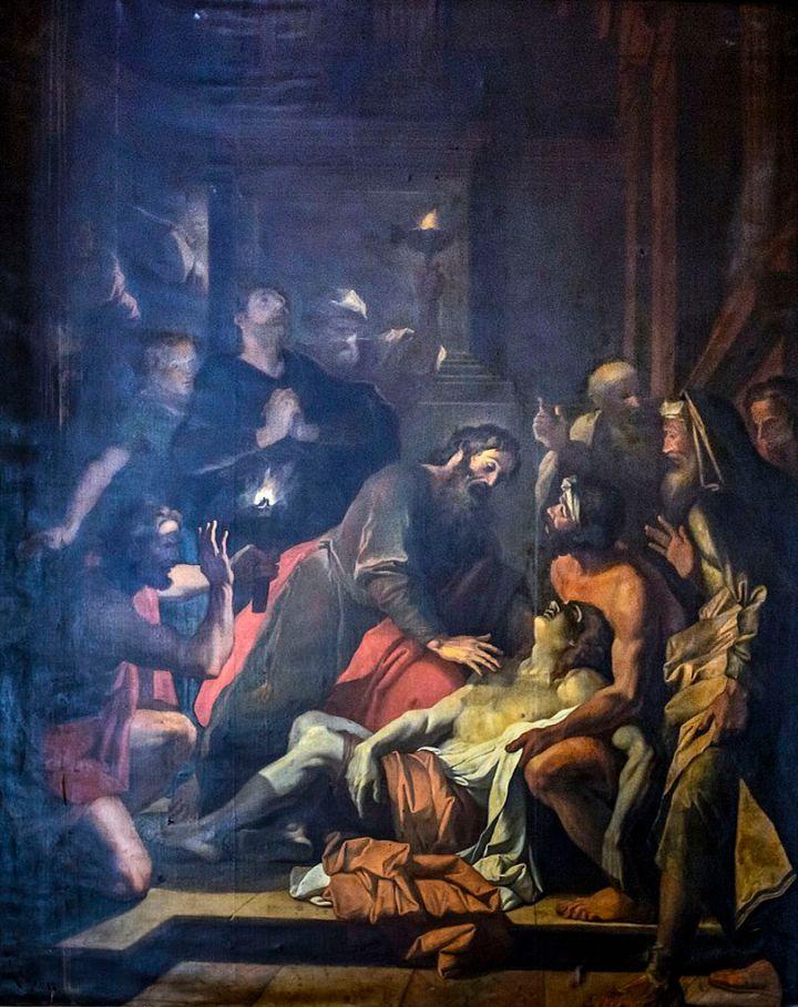 Cathédrale_Saint-Étienne_de_Toulouse_-_Saint_Paul_ressuscitant_Eutyque_par_Jacques_François_Courtin_PM31001406