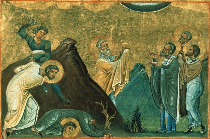 Erastus,_Olympus,_Rhodion,_Sosipater,_Quartus_and_Tertius_(Menologion_of_Basil_II).jpg