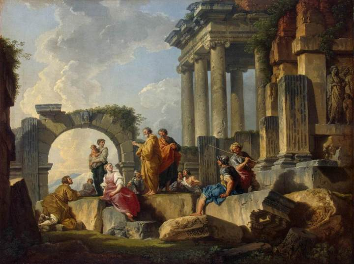 Giovanni_Paolo_Pannini_-_Apostle_Paul_Preaching_on_the_Ruins_-_WGA16977