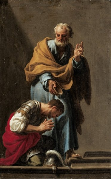 Saint Peter baptizing the Centurion Cornelius