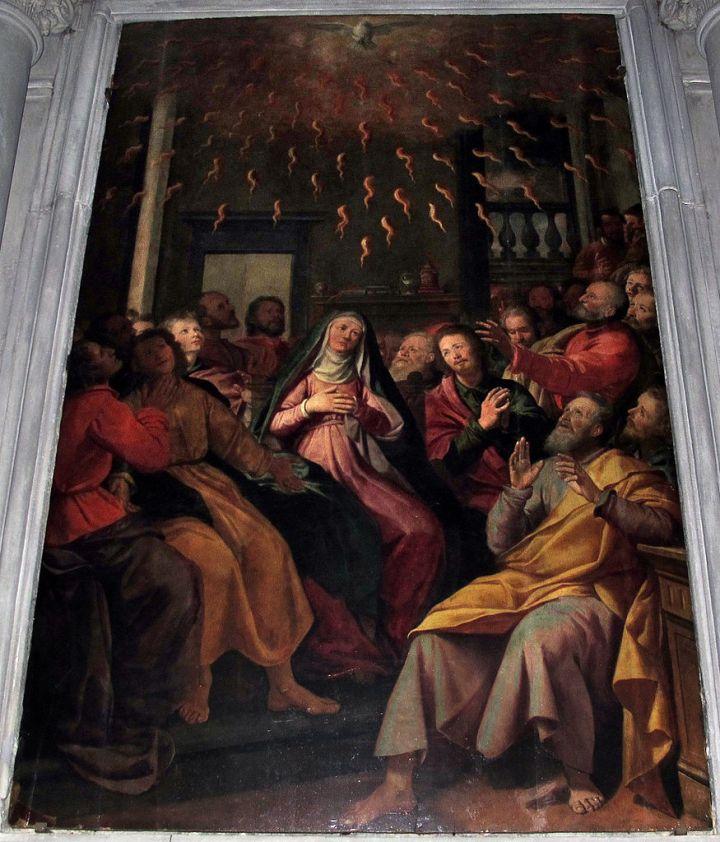 Santi_di_tito,_pentecoste,_1598,_14