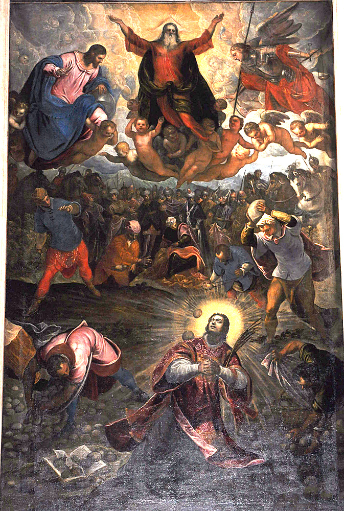 Jacopo and Domenico Tintoretto, The Stoning of St. Stephen