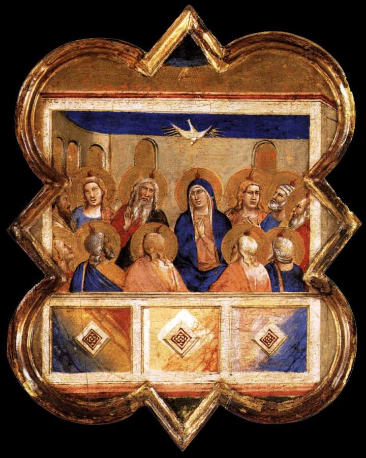 Taddeo_gaddi,_formelle_dell'armadio_della_sacrestia_di_santa_croce,_pentecoste_a_berlino