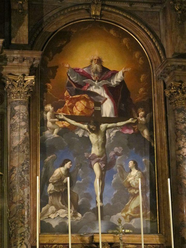 768px-Trinità_dei_pellegrini,_altare_di_guido_reni_02