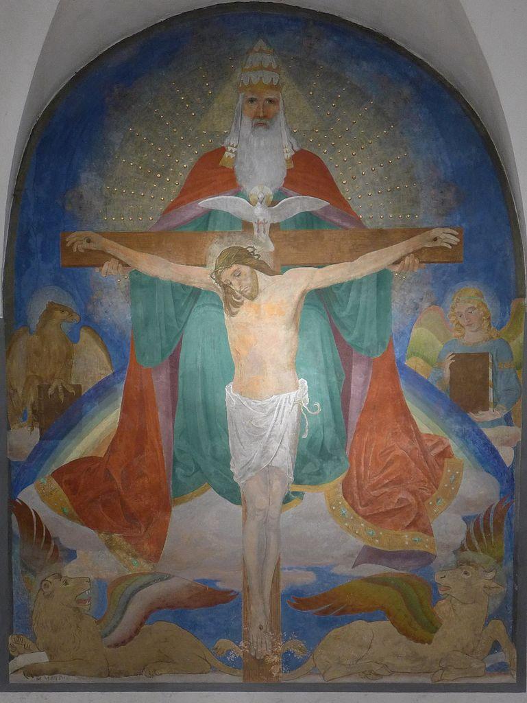 Basilika_Seckau,_Chorkapelle,_Gnadenstuhl_(Martin_Matousch,_1908)_2