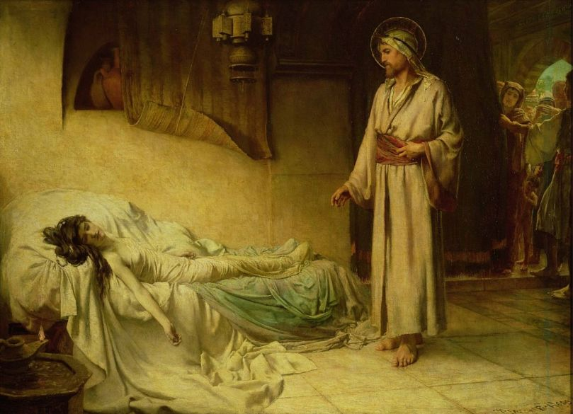 George_Percy_Jacomb-Hood_-_The_Raising_of_Jairus'_Daughter_(1895)