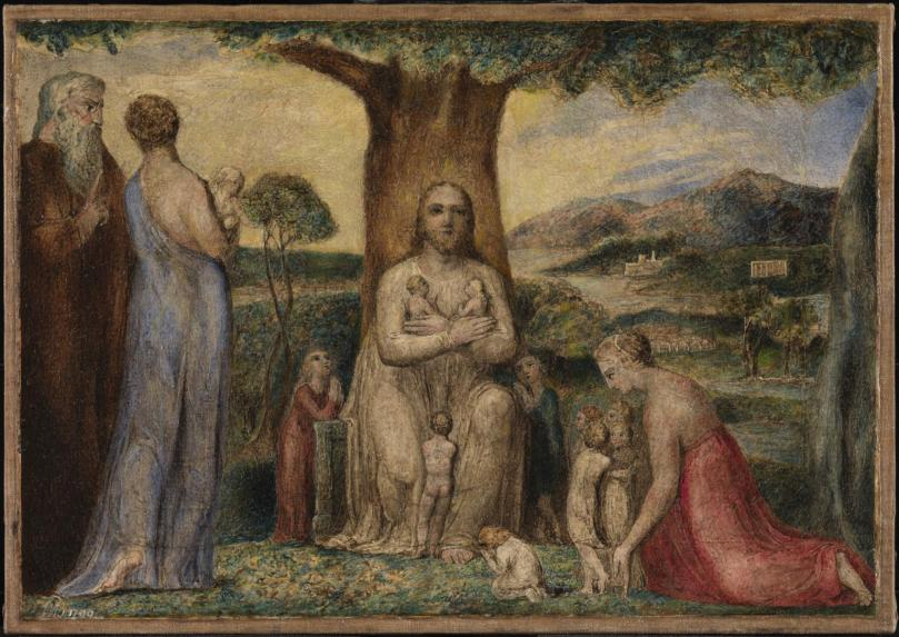 Christ Blessing the Little Children 1799 by William Blake 1757-1827