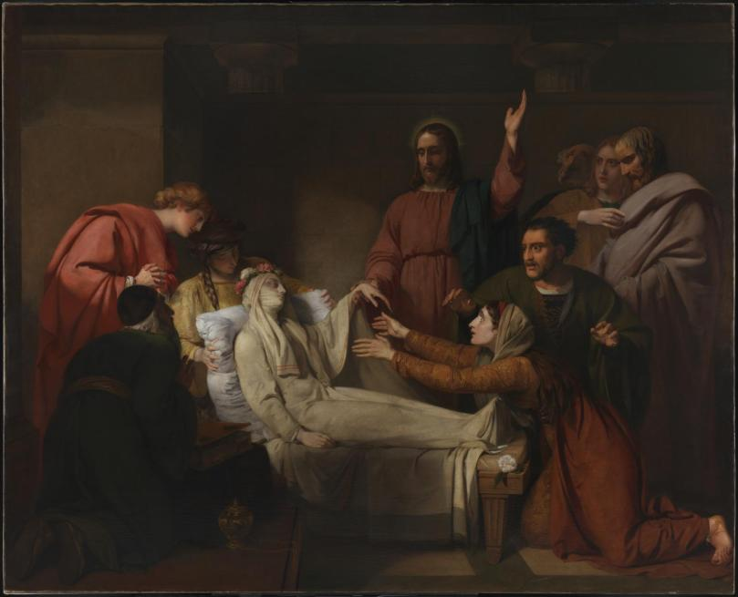 The Raising of Jairus' Daughter exhibited 1820 by Henry Thomson 1773-1843